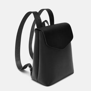 NWT Zara Topstitched Backpack